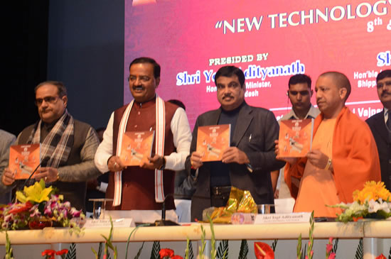 union-minister-shri-nitin-gadkari-and-other-emminent-guests-released-a-book-on-this-occassion